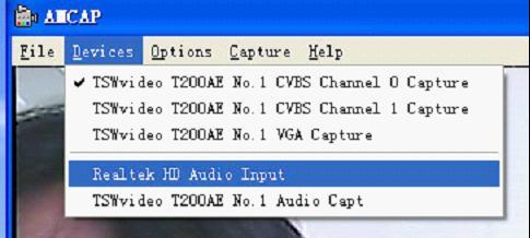 显示VGA采集设备信号