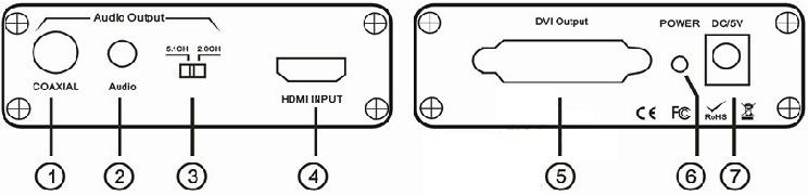 高清hdmi转dvi同步带音频接口输出-钱眼产品